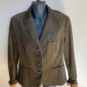 Talbots Brown Corduroy Blazer Size 10